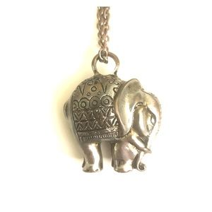 Long Elephant Statement Necklace